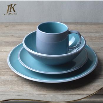Wholesale price african dinnerware sets wholesale ceramic blue dinner plate stoneware tableware sets & Wholesale Price African Dinnerware Sets Wholesale Ceramic Blue ...