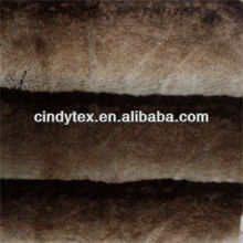 18mm tip-dye brown plushed short hair acrylic polyester imitation beaver faux fur fabric