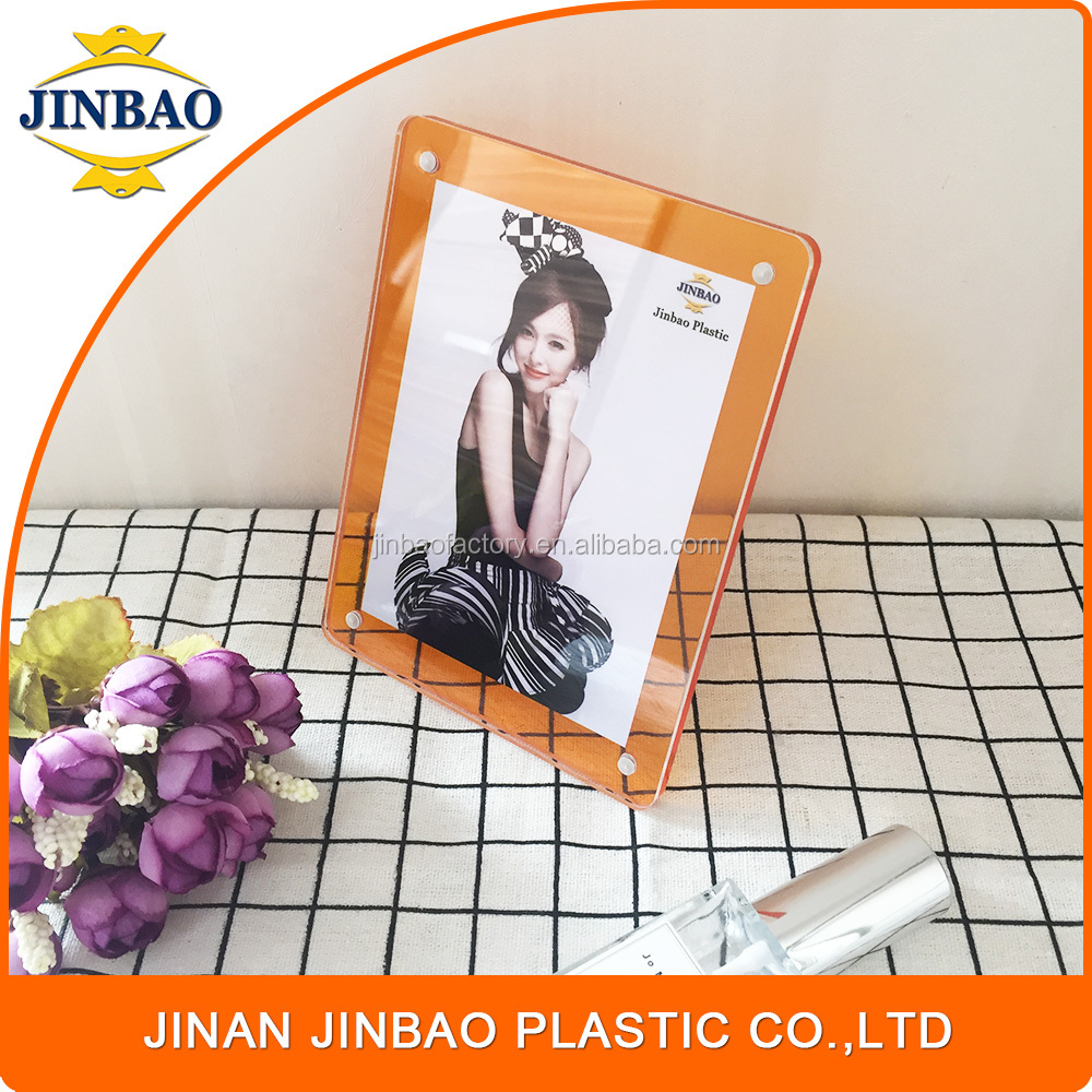 JINBAO new material high-end PS picture stand color aluminum frame & acrylic