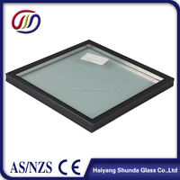 Beijing Haiyangshunda 6mm+12Ar+6mm curved insulated glass ultra clear tempered insulated glass unit