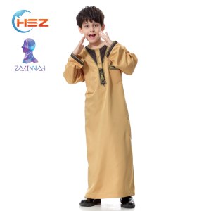 Zakiyyah TH872-C05 Turkey Wholesale Children Clothes Dubai Kids Abaya 2017