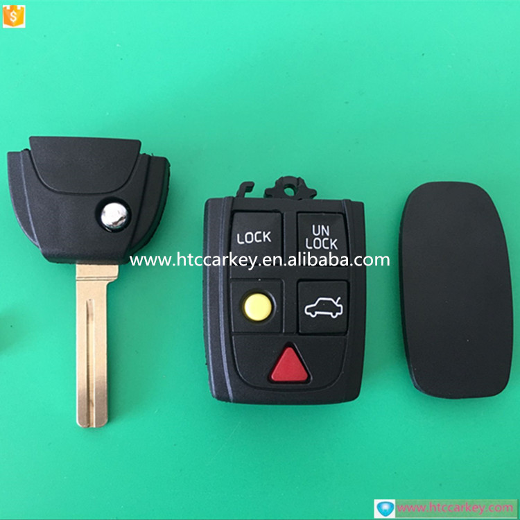 Top quality car key shell ley case or cover for Volvo 5 Button Modified flip key