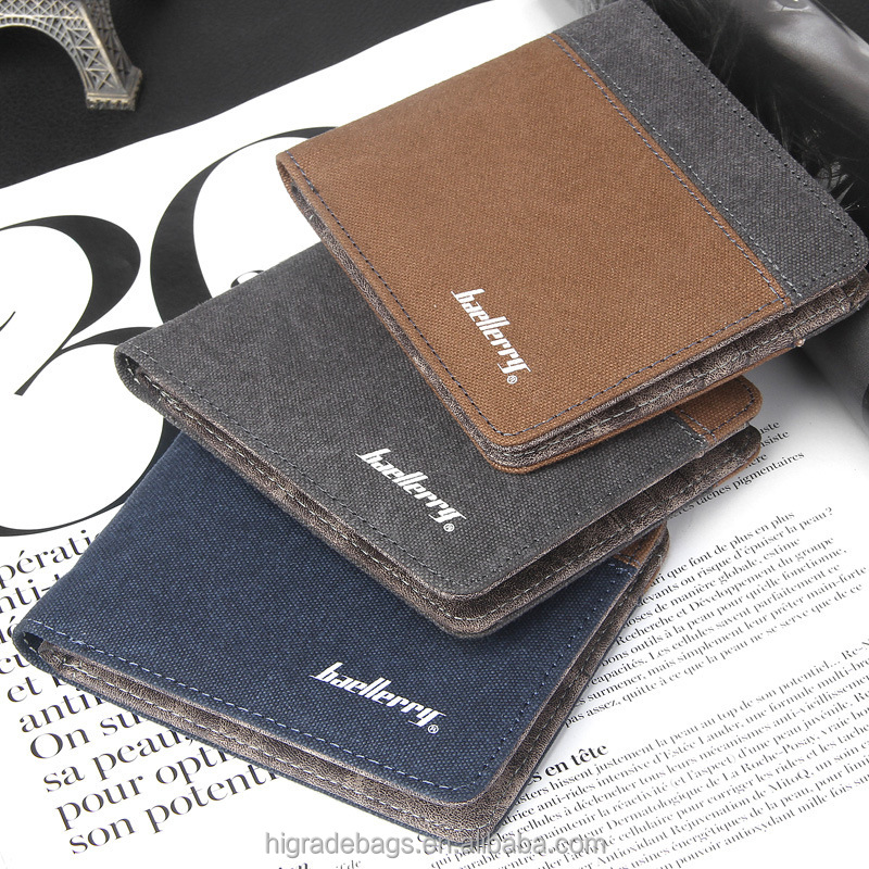 new style baellerry men's canvas wallets