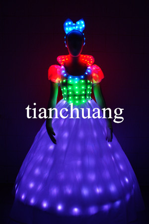 Rainbow Color Lighted Costumes / Light Up Led Suits / Birthday ...