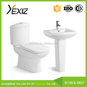 B1120&D627 China Factory Sanitary Ware Toilets Ceramic Bathroom one piece Toilet Commode