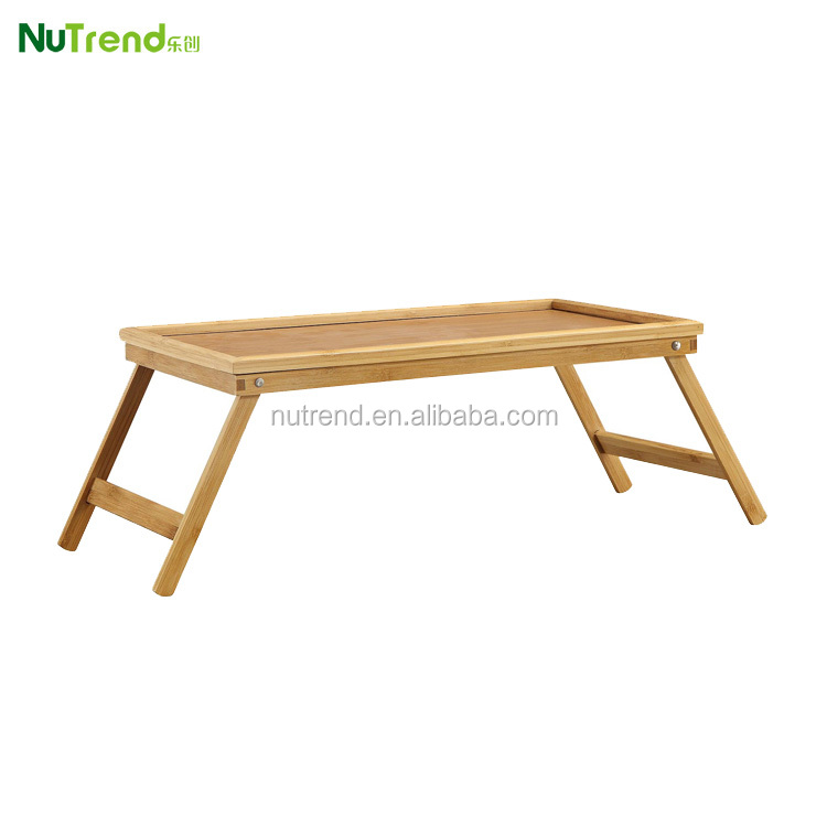 folding removable wooden breakfast tray table in bed tray