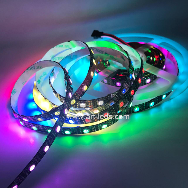 individually controllable addressable sk6812 12V RGBW 60 pixels led tape