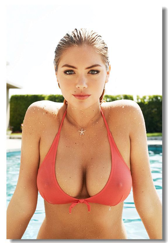 kate upton silk wall poster 36x24 30x20 18x12 inch big room prints mural sex girl super model. Black Bedroom Furniture Sets. Home Design Ideas