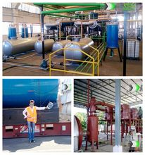 Henan Ruixin 10 Tons pyrolysis plant in egypt working web site