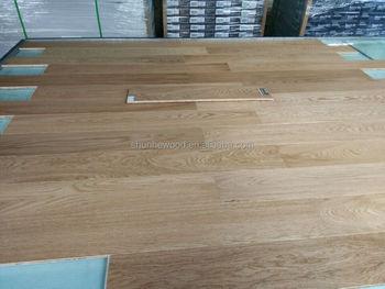 Multilayer Russian Oak Engineered Solid Wooden Floorseuropean White