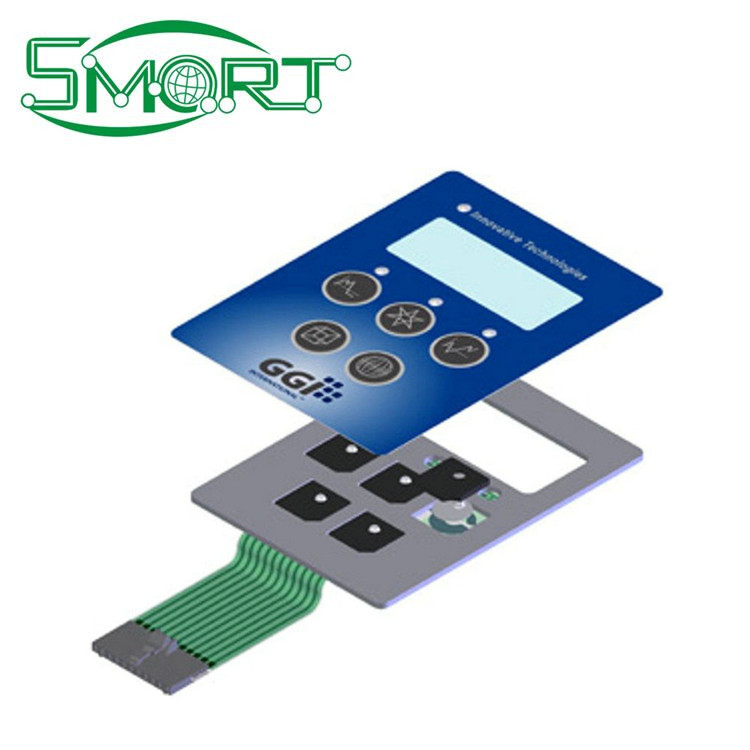 Smart Electronics Membrane Switch with LEDs , Custom colorful keypad