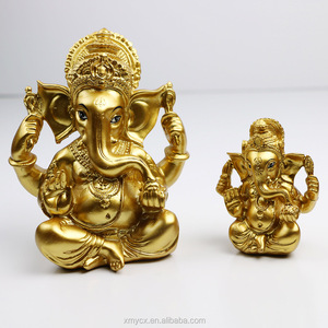 Resin hindu god pooja murti item lord ganesh handicraft