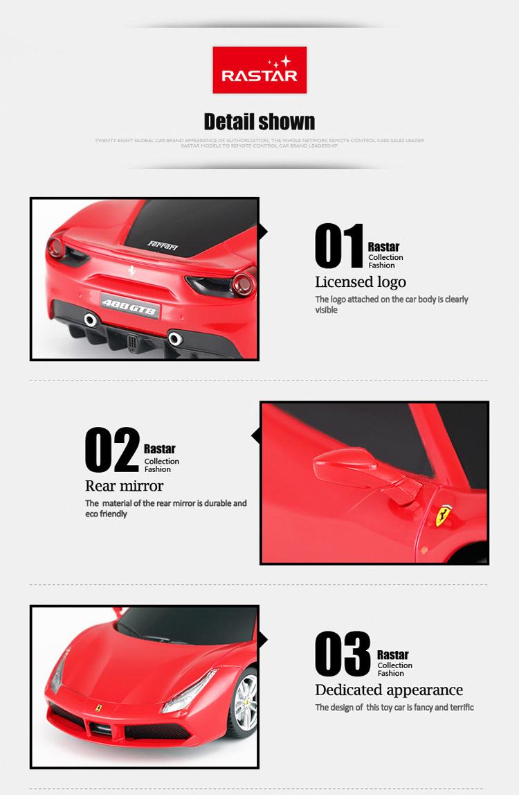 Électrique Enfants Vendre Jouet 1 Voiture De Ferrari Gtb 488 D'enfants Buy voiture À 24 Rastar voitures Électrique EH2DIW9