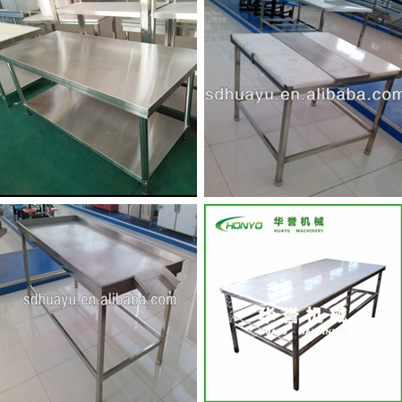 Good price industrial stainless steel work bench with goood quality for cheese