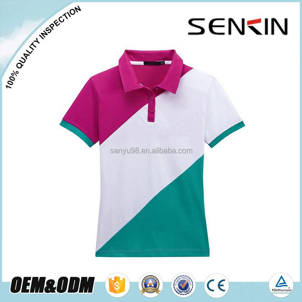 Nuevo dise o de la combinaci n de tres colores para mujer for Polo shirt color combination