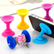 Silicone Double Sided Suction Cup Holder Sucker Stand For Mobile Phones Color Random