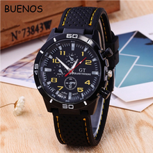 Popular Fashion Business Silicone Sport Big Dial Quartz Watch for Men