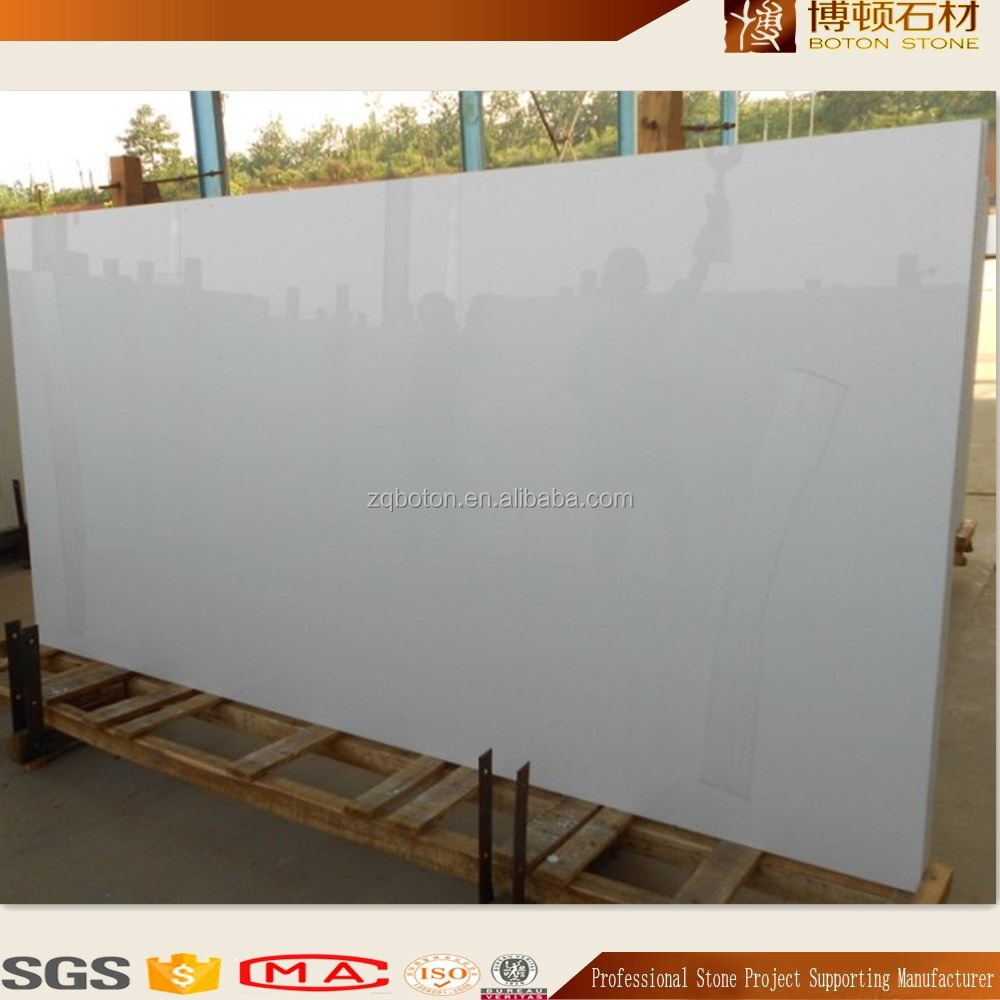 BOTON wholesale crystal white marble nanoglass <strong>stone</strong>