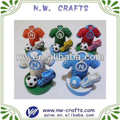 Mini resin football souvenirs crafts for kids