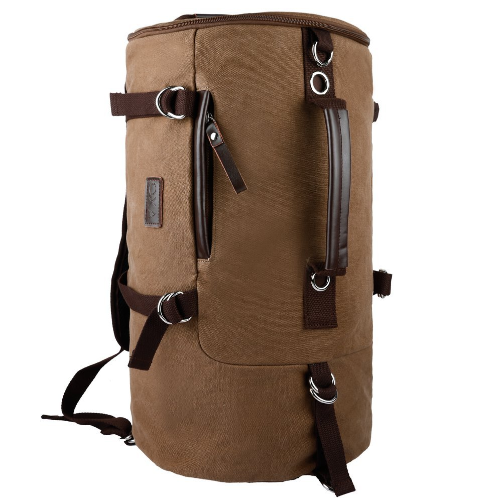 8fb070856c Get Quotations · OXA Cylinder Canvas Backpack Computer Bag Laptop Bag  Daypack Rucksack Sports Bag Work Bag Hiking Bag