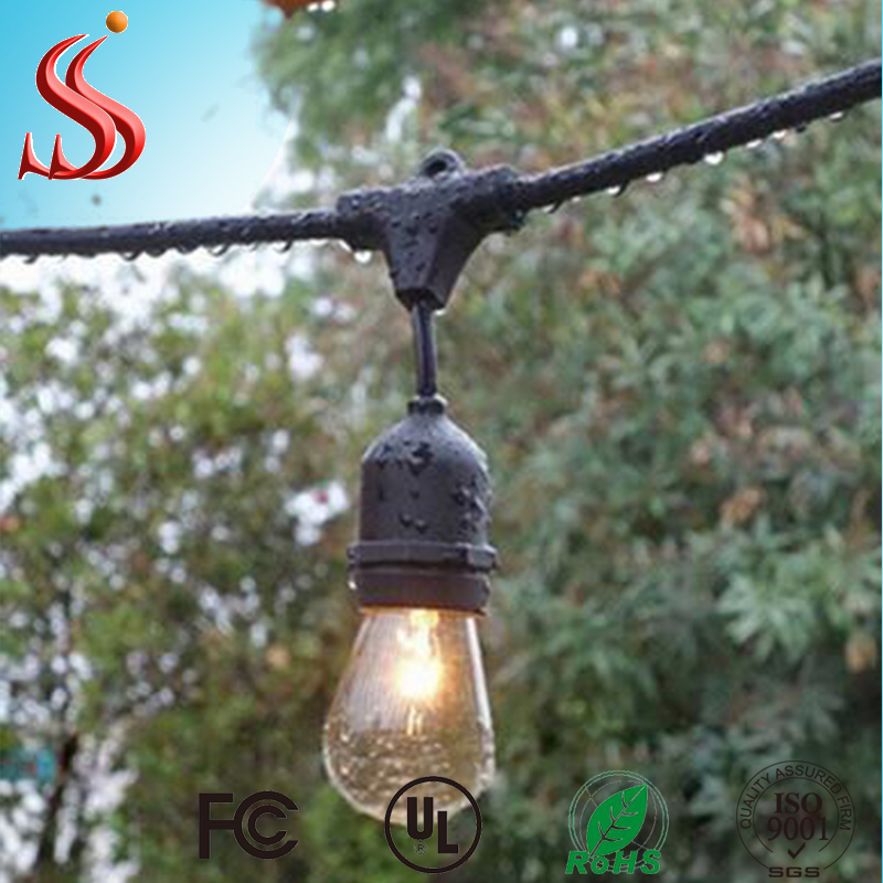 China Manufacturer 48FT Outdoor Weatherproof Vintage Edition E26 E27 UL Commercial String Lights
