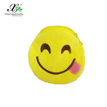 XZ-T03 Dongyang XuanZhe 100% Polyester Top Quality Plush Coin Purse Emoji Coin Purses Wholesale Plain Coin Purse