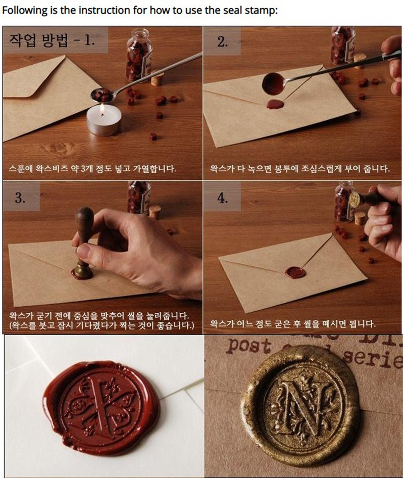 NO MOQ Custom logo metal Seal Wax Stamp for DIY Wedding Decorative paper Craft