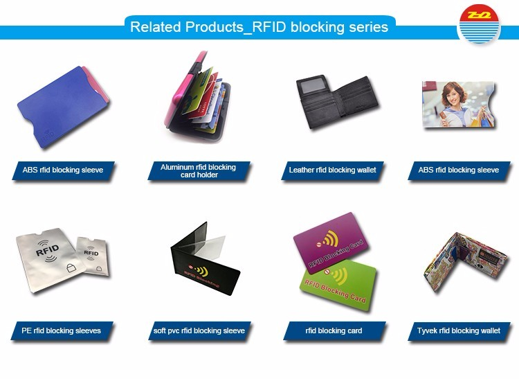 High Quality Print Two Sides Aluminum Paper Rfid Blocking Card Cover