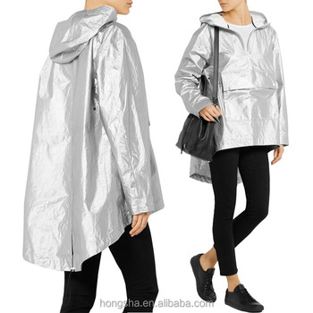 unequal in performance Buy Authentic exquisite craftsmanship Oversized Metallic Shell Hooded Rain Jacket Waterproof Bomber Jacket For  Women Dressing Hsj7325 - Buy Rain Jacket,Waterproof Jacket,Bomber Jacket ...