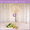Acrylic Gold Candelabra Centerpiece Prices For Wedding Party Decor Table Decoration