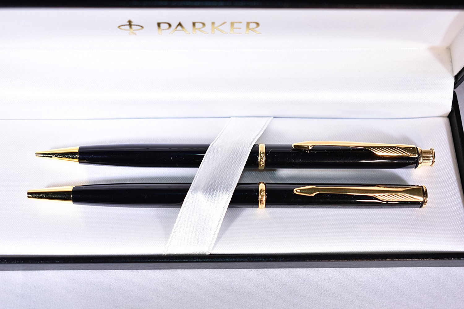 Parker Insignia Lacque Black Ball Pen and Pencil Set