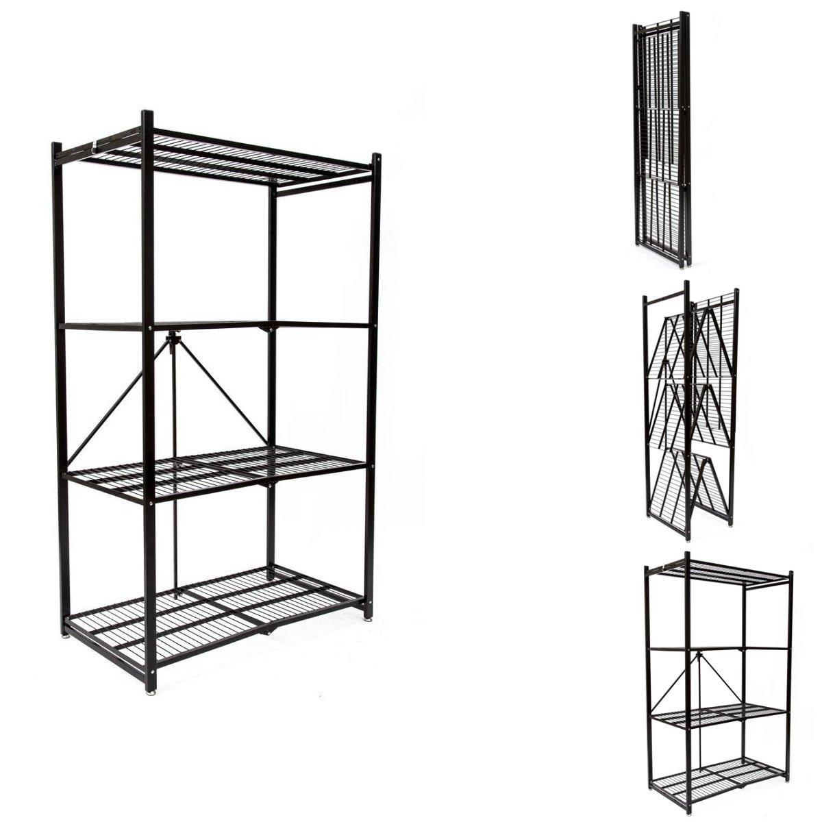 Buy origami r1407 storage rack 4 tier storage shelf black in origami r1407 storage rack 4 tier storage shelf black jeuxipadfo Images