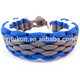 wide ladder rack weave paracord bracelet with knot
