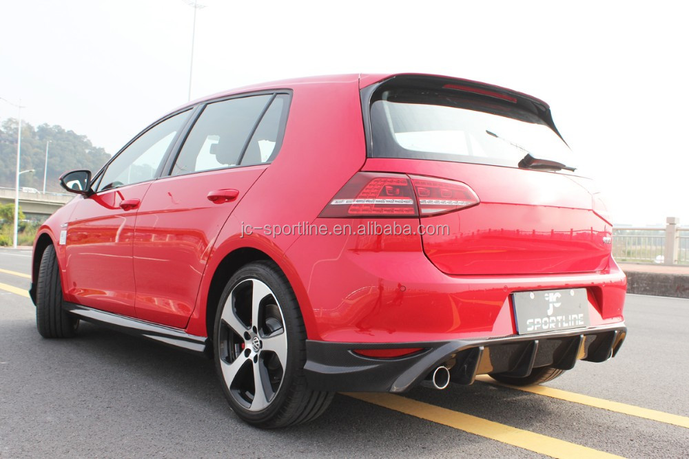 mk7 carbon fiber rear diffuser spoiler lip fit for vw golf. Black Bedroom Furniture Sets. Home Design Ideas