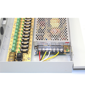 GK-A031 CE certified 18 channel 12v 10a cctv power supply box 10amp 18 output 12v power supply cabinet for cctv camera