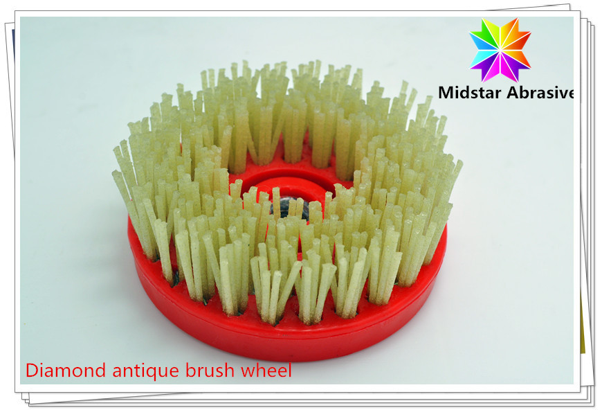 Diamond filament antique brush wheel for Granite slab