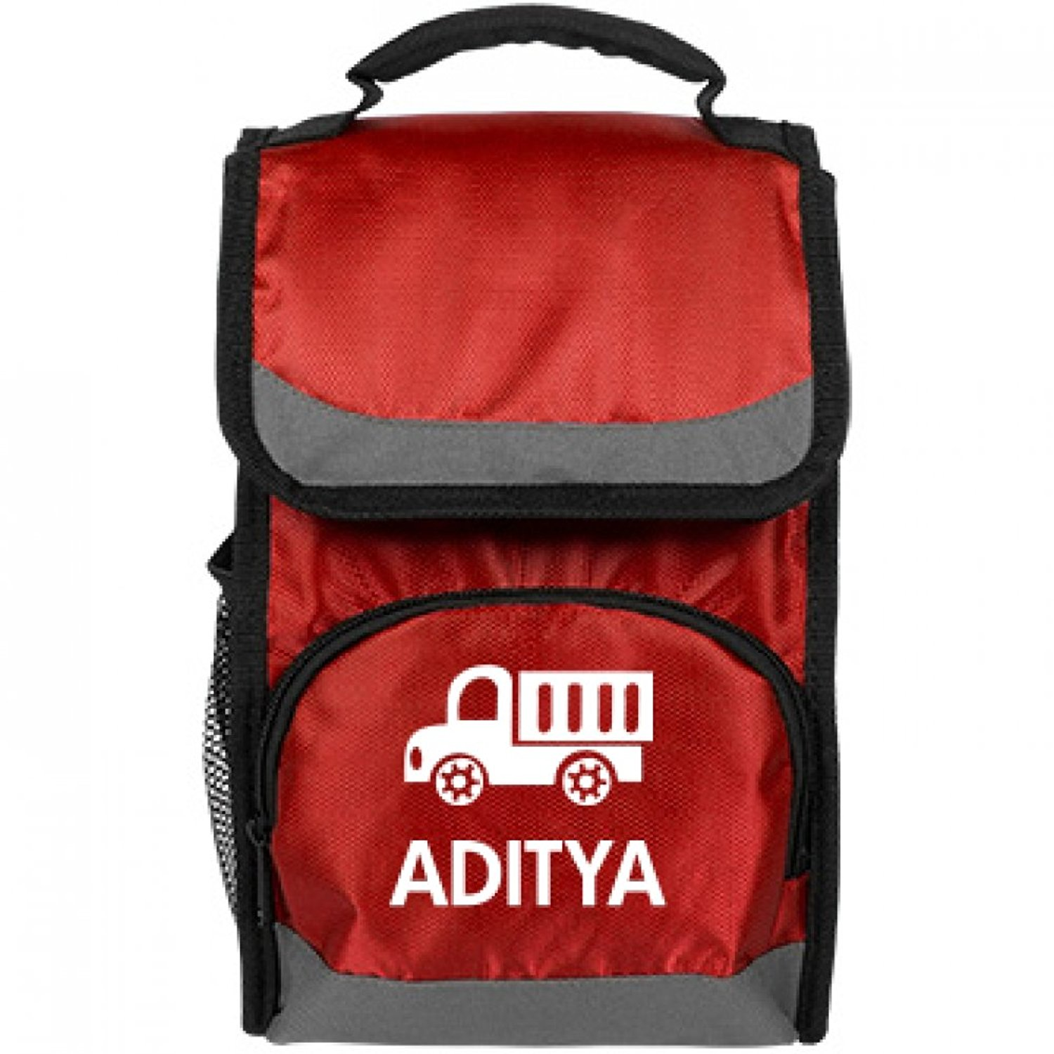 Kids Truck Lunch Bag For Aditya: Port Authority Flap Lunch Cooler Bag