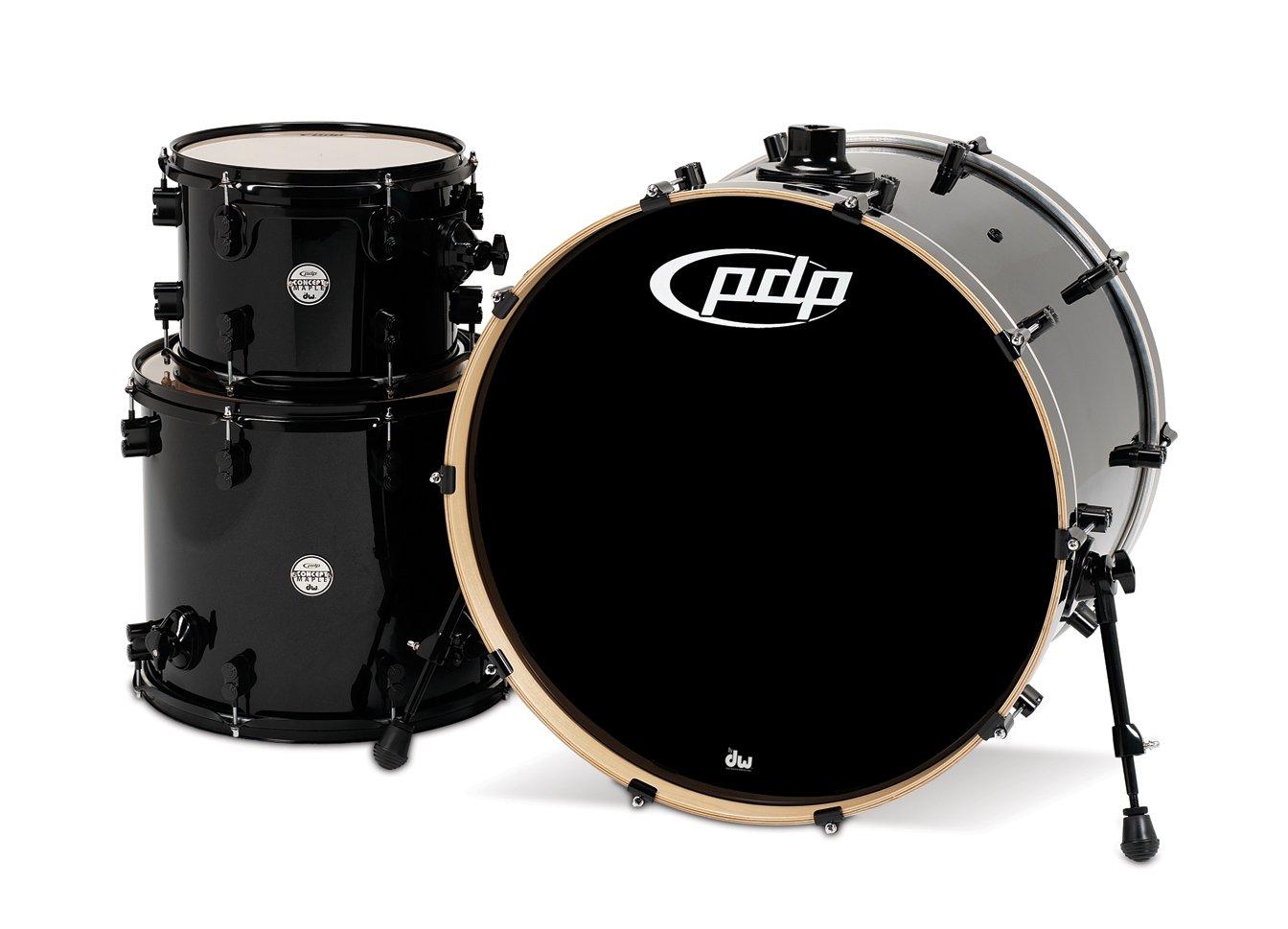 Pacific Drums PDCM2413PB Concept Series 3-Piece Drum Set - Pearlescent Black