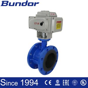 Bundor 4 Inch Electric Flange Butterfly Valve