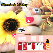 White Rad cute Mouse child Nail Arts Nail Sticker Waterproof Nail Decal Sticker Gel Polish French