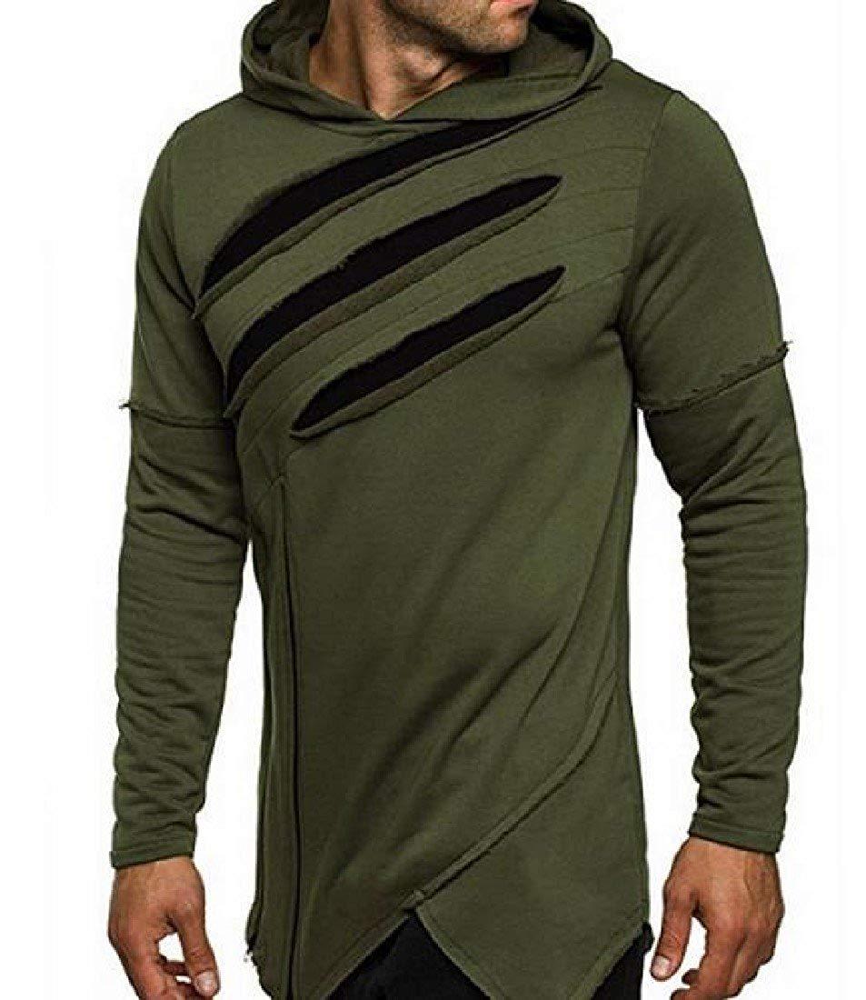 Jaycargogo Men Casual Hipster Hooded Pullover Letter Print Ovrsized Hoodies Sweatshirts