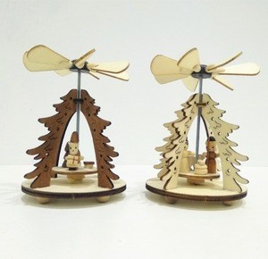 Small wood handicrafts Christmas present windmill ornament