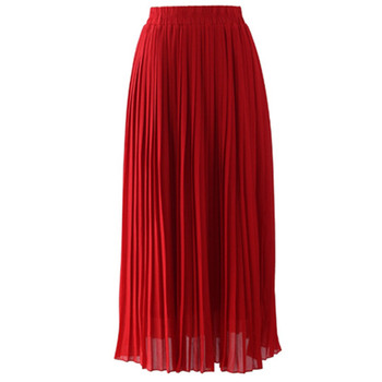 fashion muslim fashion Women Skirts Summer Pleated Long dress Skirt For Muslims
