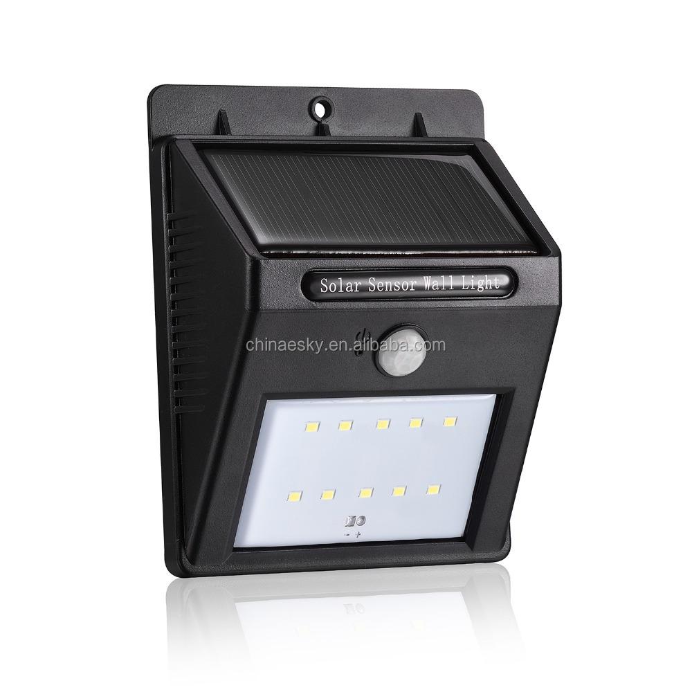 Solar Outdoor Light Pir Motion Sensor 16pcs Led Security With Bulbs