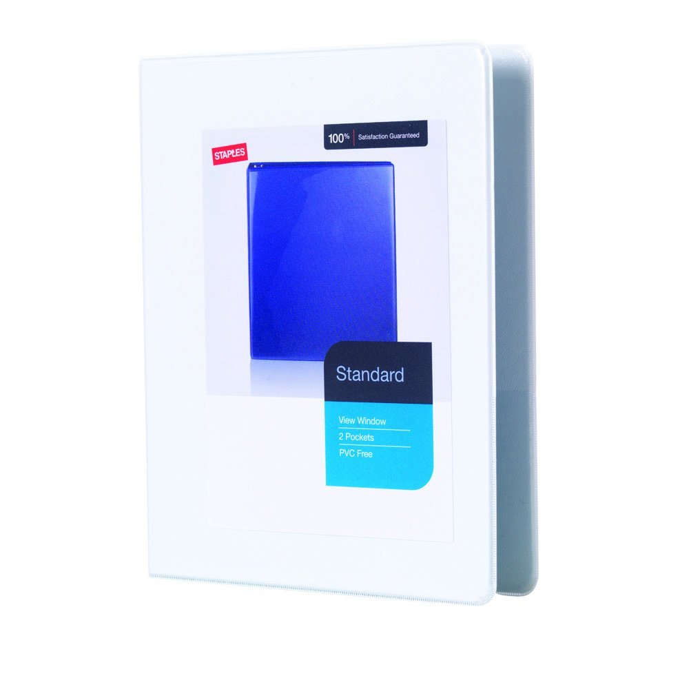 get quotations staples standard mini 5 inch 3 ring view binder white 26453