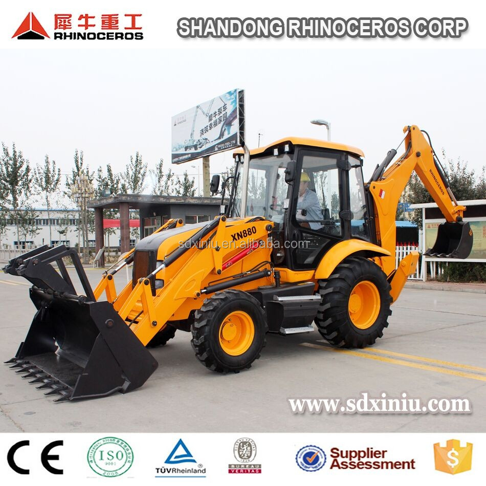 Tractor with front end loader and backhoe with price for sale backhoe loader tractor backhoe digger