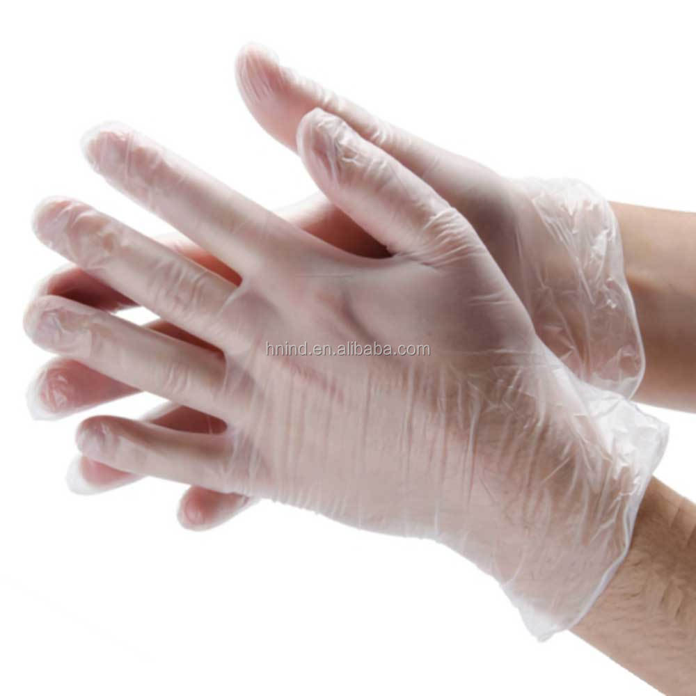 2016 cheaper price disposable vinyl gloves made by manufacturer in China