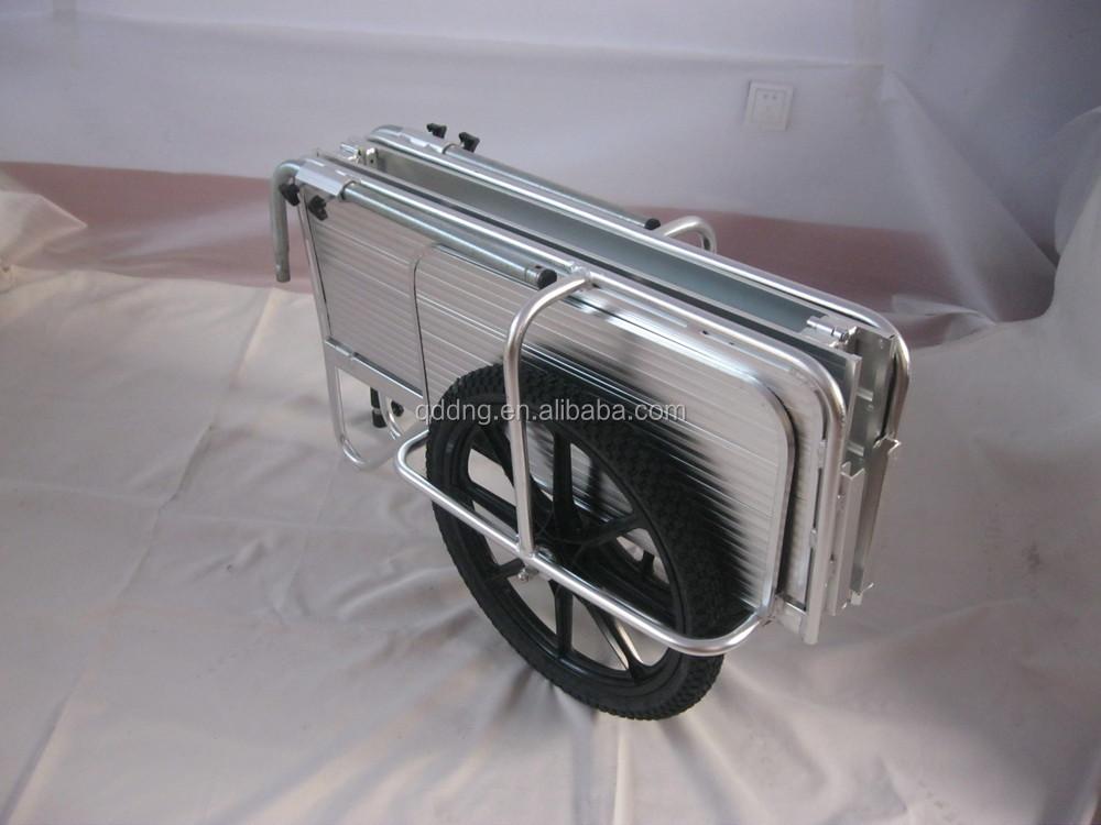 Double Wheeled Aluminium Garden Cart Folding Aluminium Hand Cart