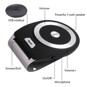 3W Handsfree Wireless In Car Speakerphone Bluetooth handsfree Car Kit for Driving Safe vehicle Noise echo cancelling