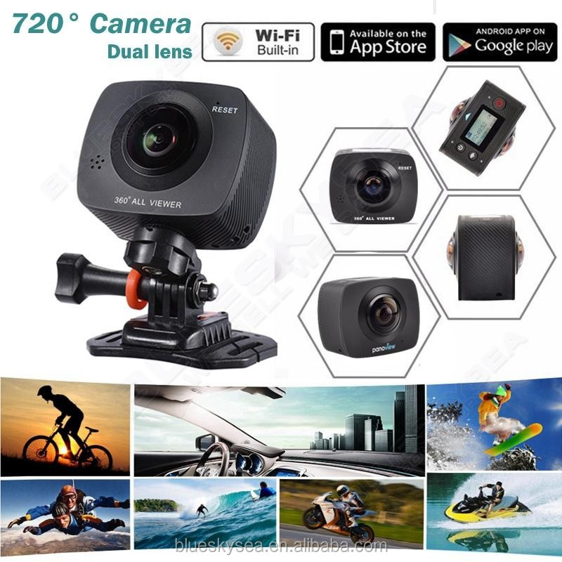 Nh720 Cam Panoramic Dual Lens Hd Wifi Sport Action Camera For Android/ios -  Buy Camera For Android/ios,Sport Action Camera,Hd Wifi Camera Product on